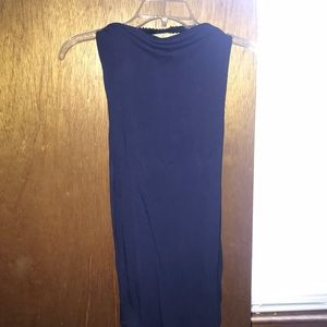 ASOS navy blue strapless dress